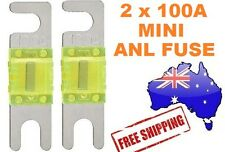 2 x 100AMP Mini ANL Fuse for Car Amplifier Wiring Kit Fuse Holders 100A Midi AFC