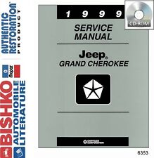 1999 Jeep Grand Cherokee Shop Service Repair Manual CD Engine Drivetrain Wiring