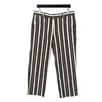 Isabel Marant Etoile Womens Size 40 US 8 Black Red Jacob Striped Ankle Pants