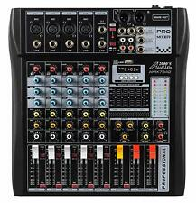 Audio2000s AMX7342 6-Ch.Audio Mixer w/USB Computer Interface, Bluetooth- MR