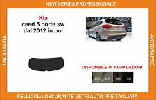 pellicola oscurante vetri pre-tagliata Kia ceed sw 5p dal 2012 kit lunotto