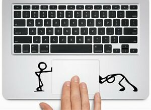 Stickman, Pushing and Standing, Silhouette, Decal, Macbook, laptop, sticker