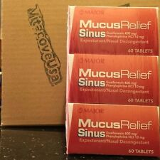 MAJOR MUCUS RELIEF SINUS W/PE GUAIFENESIN-400 MG White 60 3-Pack(180 Tablets)