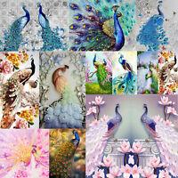 5D Peacock Diamond Painting Embroidery DIY Cross Stitch Kits Home Craft Decor