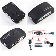 AV to VGA TV RCA Composite S-video AV In to VGA LCD Out Cable Converter Box PC