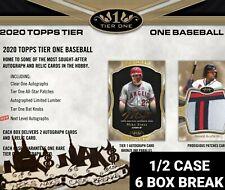 BOSTON RED SOX 2020 TOPPS TIER ONE BASEBALL 1/2 CASE 6 BOX BREAK #2