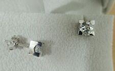 Orecchini donna oro bianco 18 kt  diamanti naturali 1,00 ct f color IGI REPORT