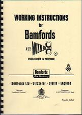 "Bamfords ""422 Wizzler"" Mower Operator Working Instruction Manual"