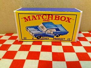 Matchbox Lesney Superfast No22 Pontiac GP Sports Coupe EMPTY Repro Box   NO CAR