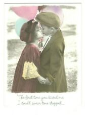 KAREN DVORAK FIRST KISS Leanin' Tree Anniversary Greeting Card w/ Envelope MG7