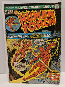 The Human Torch #1 John Romita Sr. Roy Thomas Joe Sinnott Marvel Comic 1974 VG