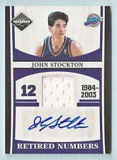 John Stockton 2011/12 Limited Retirado Números Camiseta Autógrafo Auto / 25