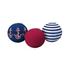 SUMMER Nautical PAPER LANTERNS (3) ~ Birthday Party Supplies Decorations Ocean