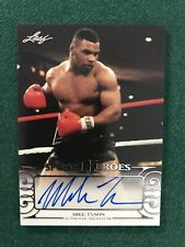 2016 Leaf Sports Heroes Mike Tyson Auto Signed Iron Mike Boxing Champ