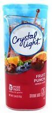 6 12-Quart Canisters Crystal Light Fruit Punch Drink Mix