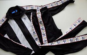 Adidas Originals x Nigo tracksuit set Jacket Bottoms Black white S/M bear 2015