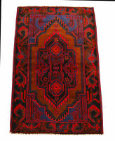 Genuine, Original Pure Wool Rug Rustic Handmad Carpet CM 148x93