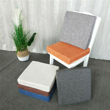 Square Dining Kitchen Chair Seat Pads With Tie Thicken Cushion Office Floor Mat