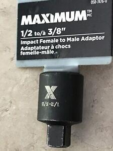1/2 to 3/8 Pneumatic Sleeve Adapter Head Adapter Socket Reducer Air Impact