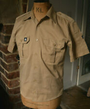 SCANDIA ScandiaGear ScanSafari 001 Safari Tactical Outdoor Shirt Beige Brown M