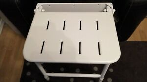 Aids and adaptations White fold up Adjustable Height Shower Seat  mobility aid
