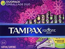 Tampax Radiant Duopack Tampons, Regular/Super (84 ct.) by Tampax