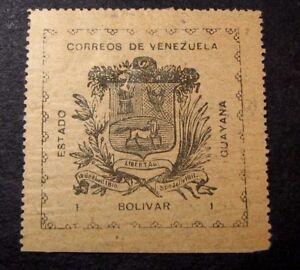 Venezuela-Guayana  Stamp Scott# 15 Coat of Arms 1903  MH   C381