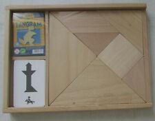Tangram en bois (jeu traditionnel chinois) 54 modèles (27 cartes recto verso)