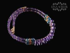Halsketten mit Edelsteinen Kyanit echten für Damen