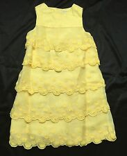 Janie And Jack NWT Special Occasion Dress 100% Silk Tiered Ruffles Daisies SZ 5