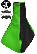 BLACK & GREEN REAL LEATHER GEAR GAITER FITS VAUXHALL OPEL ASTRA MK3 III F 91-98