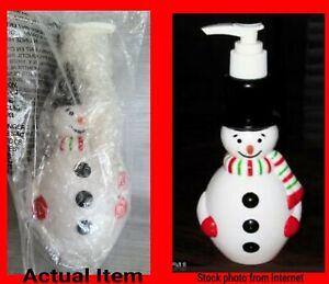 "Avon 2008 Plastic Snowman Soap Dispenser Pump New Approx. 6"""