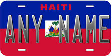 Haiti Flag Any Name Personalized Novelty Car License Plate