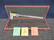 STARRETT 120-M  CALIPER .02MM VERNIER MEASURE  TOOL MACHINE PRECISION 3. METRIC