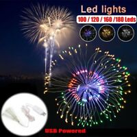 Hanging Starburst Light Firework LED Fairy String Light Home Wedding Decor UK RR