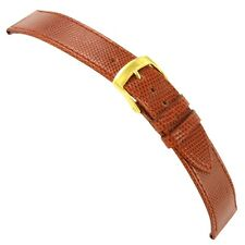 19mm Morellato Genuine Lizard Tan Flat Stitched Watch Band Regular 858