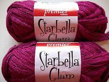 Premier Starbella Glam ruffle mesh yarn, Fuchsia, lot of 2 (33 yds each)
