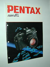 PENTAX  SUPER A catalogue publicitaire photographie photo
