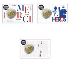 More details for france 🇫🇷 3x coincards 2€ euro 2020 medical research: union merci hero bunc
