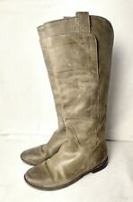8.5 FRYE Paige Tall Riding Boots - Grey Leather - Style 3477534
