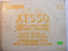 YAMAHA XT550 Handbuch Wartungsanleitung Ergänzung  Art. 5Y6-28197-81