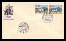 Iceland 1963 FDC, Centenary of the Red Cross. Lot # 2.