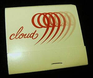 Vtg CLOUD 9 Hotel Advertising Matchbook Book of Matches Back Strike Unused