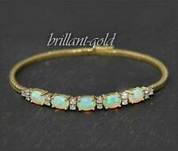 3,50ct Diamant & Opal Damen Armband, 0,45ct Lupenreine Brillanten, 750 Gold