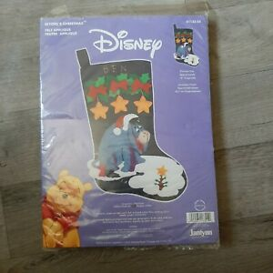 Disney Eyore Vintage Personalized Holiday Christmas Stocking Craft Kit Winnie