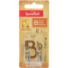 Speedball Calligraphy Pen Nibs 2/Pkg-B5 & B6 with round points