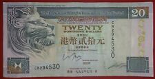 British HONG KONG 1993 1997 HSBC $20 DOLLARS FOREIGN CURRENCY PAPER MONEY P-201