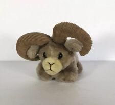 "Dakin Plush Small Ram Corduroy Horns Stuffed Animal 5"" Plush Vintage 1983"