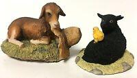 Vintage Schmid BFA Lowell Davis Goat & Sheep RFD America Figurine Pair