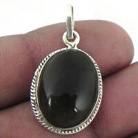925 Sterling Silver Pendant Necklace Natural Smoky Quartz Jewelry PS-1593